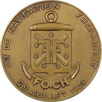 IVe République, Compagnie de navigation Fraissinet, le paquebot Foch, par de Chastenet, 1950 Paris