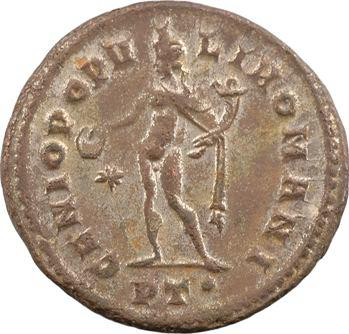 Constance Chlore césar, follis, Ticinum, 1re officine, c.296-297