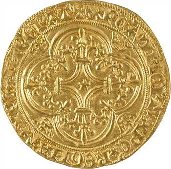 Charles VI, écu d'or à la couronne 3e émission, Paris