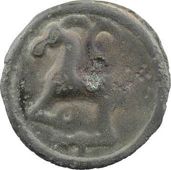 Séquanes, potin à la grosse tête laurée, c.60-50 av. J.-C.