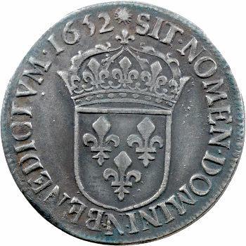 Louis XIV, demi-écu à la mèche longue, 1652 Montpellier