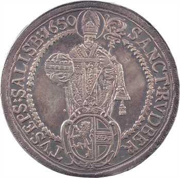 Autriche, Salzbourg (archevêché de), Paris von Lodron, thaler, 1650