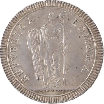 Italie, Rome (république de), écu, s.d. Rome