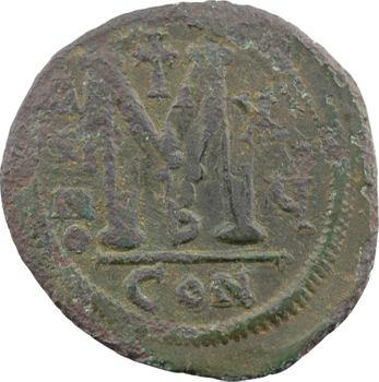 Justinien Ier, follis, Constantinople, 3e officine, An XV = 541-542