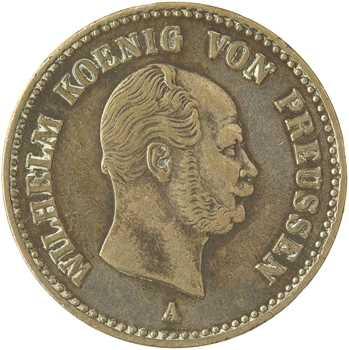 Allemagne, Prusse (royaume de), Guillaume Ier, VIe de thaler, 1864 Berlin