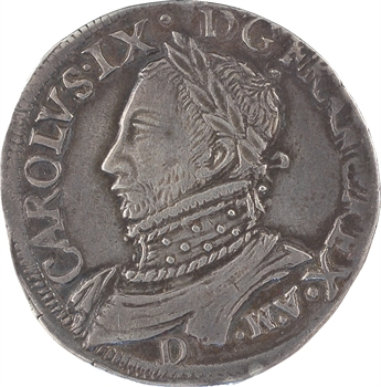 Charles IX, teston 11e type, 1573 Lyon