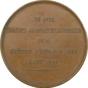 Louis-Philippe Ier, hommage à Louis XVIII par Caqué, 1834 Paris