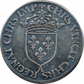 Henri II, teston frappé au moulin de Paris, 2e type, s.d. (1552) Paris