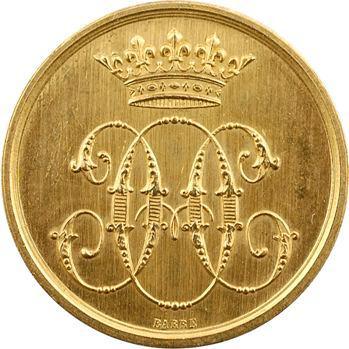 Louis-Philippe Ier à Napoléon III, jeton Or, domaines du Duc d'Aumale, s.d. (1860-1880) Paris