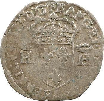 Henri IV, douzain aux 2 H couronnées 3e type, 1593 Clermont