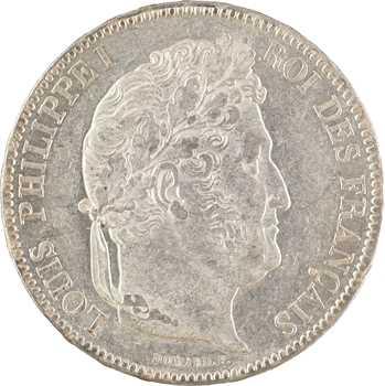 Louis-Philippe Ier, 5 francs IIe type Domard, 1840 Paris