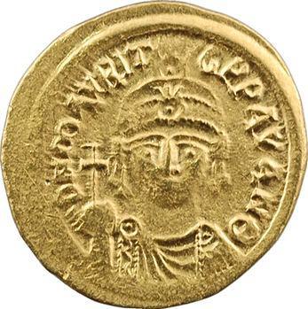 Maurice Tibère, solidus, Carthage, An 9 = 590-591