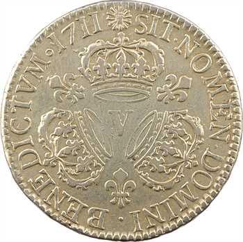 Louis XIV, demi-écu aux trois couronnes, 1711 Troyes