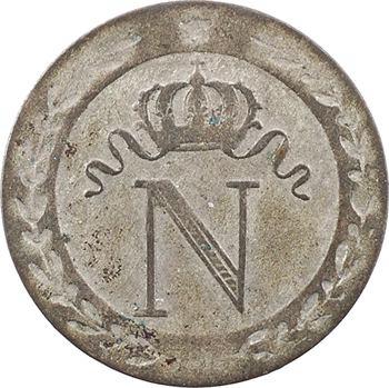 Premier Empire, 10 centimes à l'N couronnée, 1808 Rouen