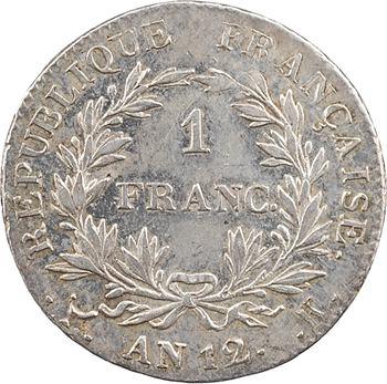 Premier Empire, 1 franc calendrier révolutionnaire, An 12 Bordeaux