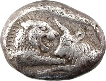 Lydie, Sardes, Crésus, statère ou créséide d'argent, c.561-546 av. J.-C