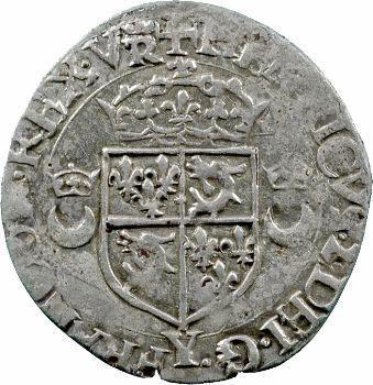 Henri II, douzain aux croissants du Dauphiné, 2e type, 1554 Romans