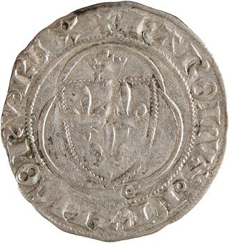 Charles VII, petit blanc à la couronne, 1re émission, La Rochelle
