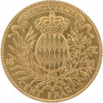 Monaco, Albert Ier, cent francs or, 1891 Paris
