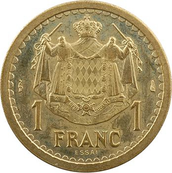 Monaco, Louis II, essai de 1 franc en cupro-aluminium, s.d. (1943)