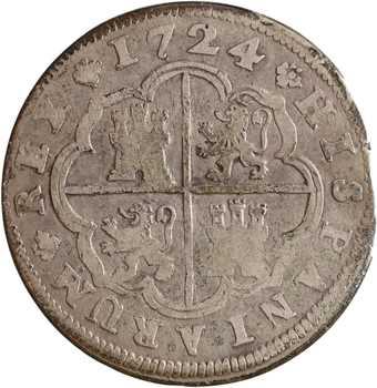 Espagne, Louis Ier, 2 réaux, 1724 Madrid