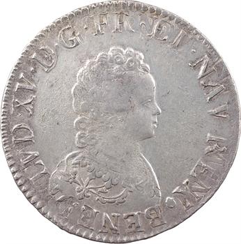 Louis XV, écu dit Vertugadin, 1716 Troyes