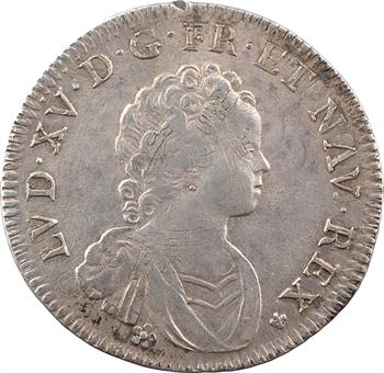 Louis XV, quart d'écu dit Vertugadin, 1716 Amiens