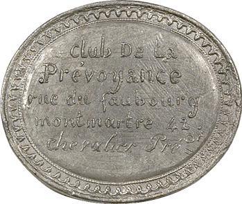 IIe République, Club de la Prévoyance, Chevalier, 1848 Paris