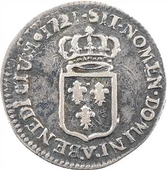 Louis XV, sixième d'écu de France, 1722 Troyes