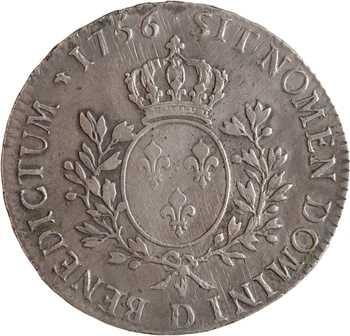 Louis XV, écu au bandeau, 1756 Lyon