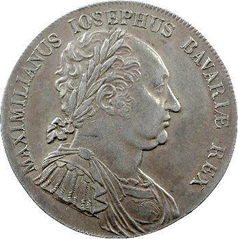 Allemagne, Bavière (royaume de), Maximilien Ier Joseph, Thaler de convention, 1818