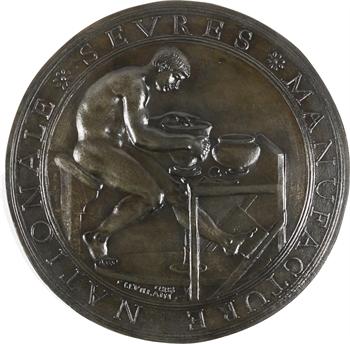 Levillain (F.) : la Manufacture nationale de Sèvres, fonte de fer, 1888 Paris