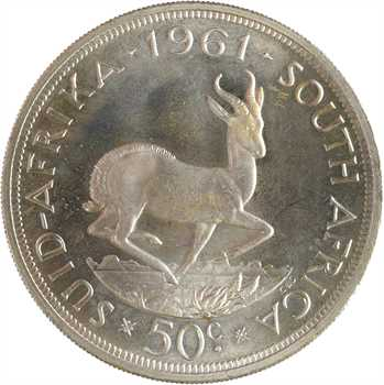 Afrique du Sud, 50 cents, 1961 PROOF