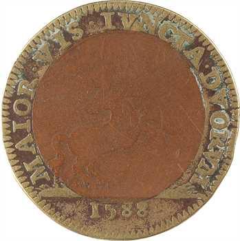 Henri III, jeton bimétallique, 1588 Paris