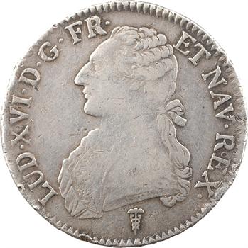 Louis XVI, écu aux branches d'olivier, 1790 Bordeaux