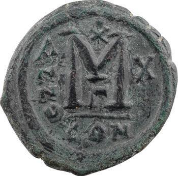 Justin II et Sophie, follis, Constantinople, 3e officine, An X = 575-576