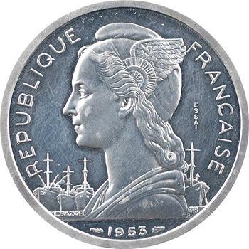 Madagascar, essai-piéfort 5 francs, 1953 Paris