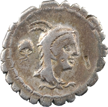 Papia, denier serratus, Rome, 79 av. J.-C