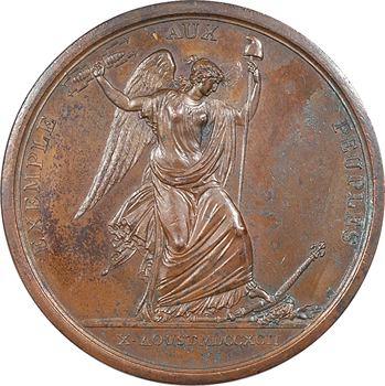 Constitution, médaille pour la journée du 10 août 1792, prise des Tuileries