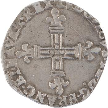Louis XIII, quart d'écu de Navarre, 1616 Saint-Palais