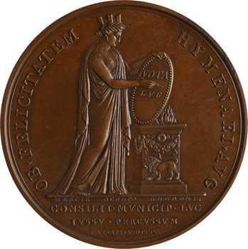 Premier Empire, mariage de Napoléon et Marie-Louise à Vienne, par Mercié, 1810 Lyon
