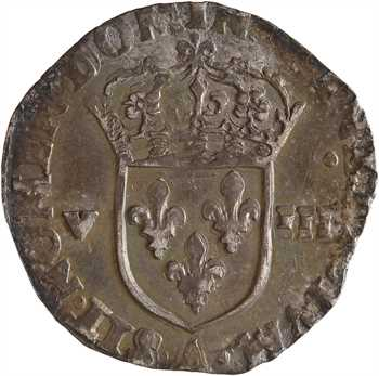 Charles X, huitième d'écu, croix de face, 1590 Paris