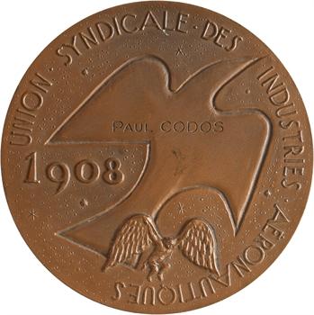 Aviation : l'Union Syndicale des Industries Aéronautiques à Paul Codos, par Joly, 1908/1958 Paris