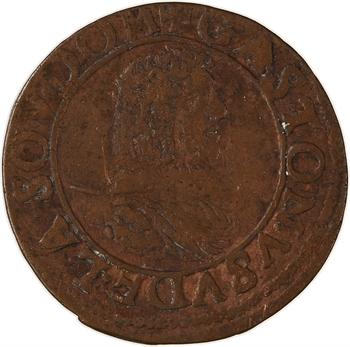 Dombes (principauté des), Gaston d'Orléans, double tournois 8e type, 1638 Trévoux