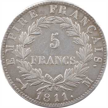 Premier Empire, 5 francs Empire, 1811 Toulouse