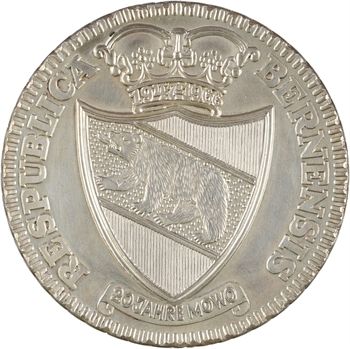 Suisse, Berne (Canton de), copie de thaler en argent, 1795 (postérieur)