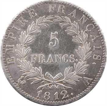 Premier Empire, 5 francs Empire, 1812 Paris