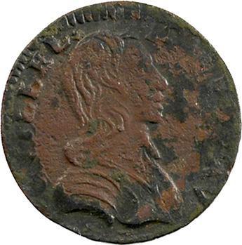 Orange (principauté d'), Guillaume IX, denier tournois, 1650 Orange