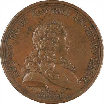 Louis XIV et Louis XV, par N. Roëttiers, 1724 Paris