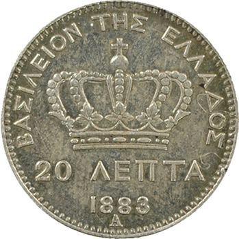 Grèce (Royaume de), Georges Ier, 20 lepta, 1883 Paris